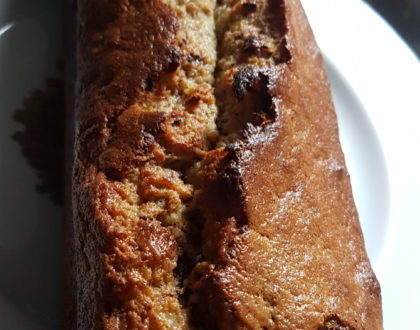 Valérie's chocolate chip banana cake